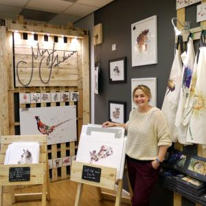Much loved Shropshire artist Meg Hawkins opens independent gift store